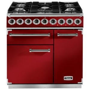 Falcon F900DXDFRD/NM 900 Deluxe Dual Fuel Range Cooker - RED