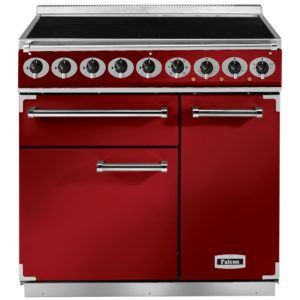 Falcon F900DXEIRD/N 900 Deluxe Electric Induction Range Cooker – RED