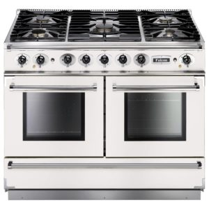 Falcon FCON1092DFWH/NM Continental 1092 Dual Fuel Range Cooker – WHITE