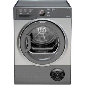 Hotpoint TCFS83BGG 8kg Aquarius Condenser Tumble Dryer - GRAPHITE