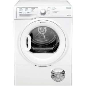 Hotpoint TCFS83BGP 8kg Aquarius Condenser Tumble Dryer - WHITE