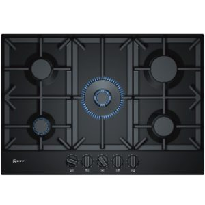 AEG HKB64NB540 59cm 4 Burner Gas On Glass Hob – BLACK