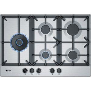 Neff T27DS79N0 75cm 5 Burner FlameSelect Gas Hob – STAINLESS STEEL