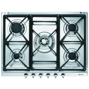Smeg SE70SGH-5 70cm Classic Gas Hob - STAINLESS STEEL