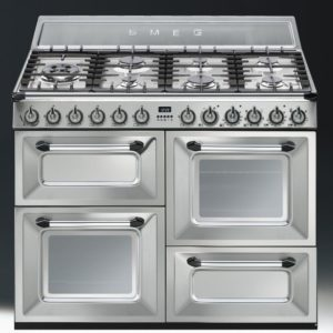 Smeg TR4110X 110cm Victoria Dual Fuel Range Cooker - STAINLESS STEEL