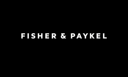 Fisher white logo
