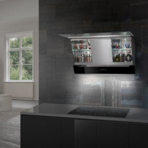 Air Uno LEONARDO 90 BL 90cm Decorative Angled Chimney Hood – BLACK