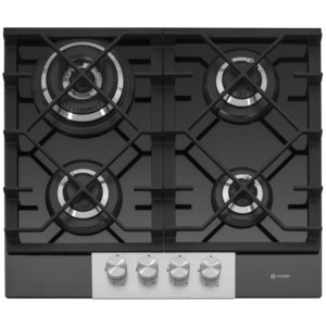 Caple C786G 58cm 4 Burner Gas On Glass Hob – BLACK