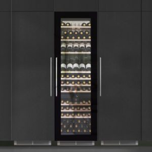 Caple WC1795 179cm Integrated In Column Triple Zone Wine Cooler – BLACK