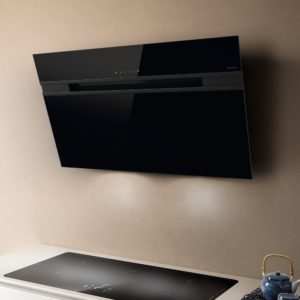 Elica ASCENT LED 60 BL 60cm Decorative Angled Chimney Hood – BLACK