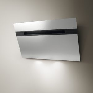 Elica ASCENT LED 90 SS 90cm Decorative Angled Chimney Hood – STAINLESS STEEL