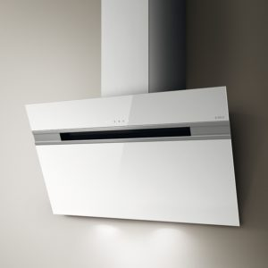 Elica ASCENT LED 60 WH 60cm Decorative Angled Chimney Hood – WHITE