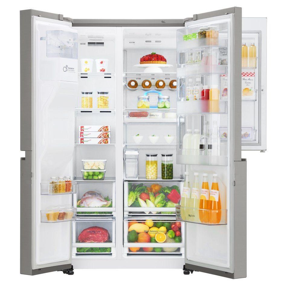 American Fridge Freezer Plumbed: LG GSJ860NSBV Non Plumbed Door In Door American Style