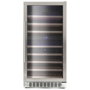 Montpellier WS94SDX 60cm Freestanding Dual Zone Wine Cooler - STAINLESS STEEL