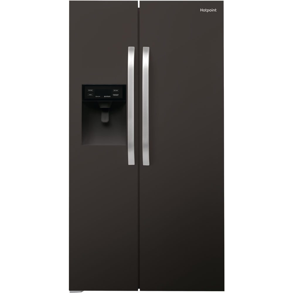 hotpoint sxbhe925wd american style fridge freezer black. Black Bedroom Furniture Sets. Home Design Ideas