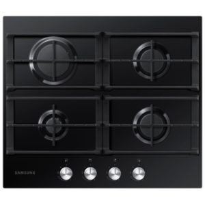 Samsung NA64H3000AK 60cm Four Burner Gas On Glass Hob - BLACK
