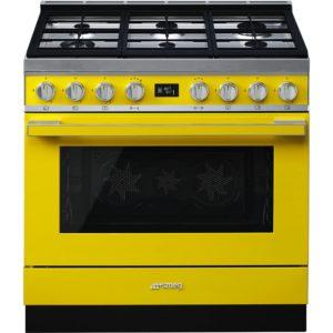 Smeg CPF9GPYW 90cm Portofino Pyrolytic Dual Fuel Range Cooker – YELLOW