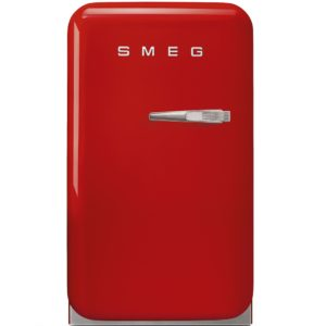 Smeg FAB5LRD Red Retro Mini Bar Fridge Left Hand Hinge – RED