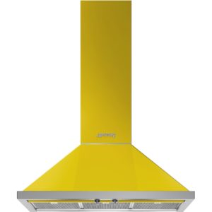 Smeg KPF9YW 90cm Portofino Chimney Hood - YELLOW