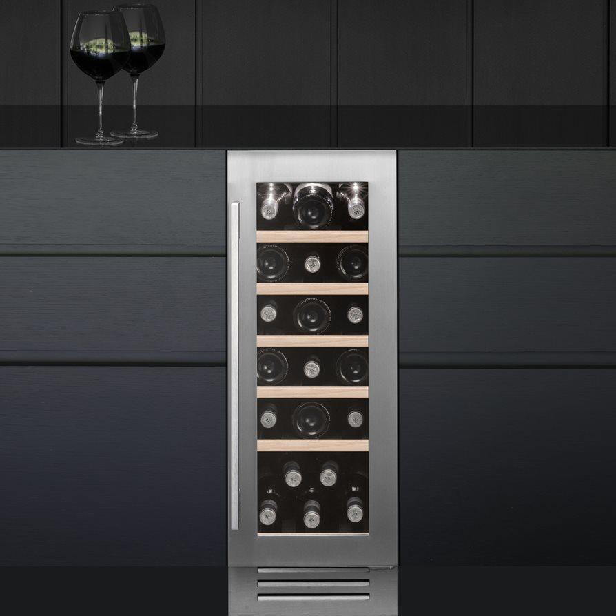 caple wi3123 30cm undercounter wine cooler - stainless steel