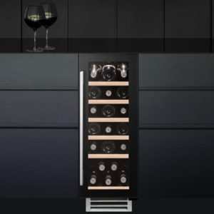 Caple WI3124 30cm Undercounter Wine Cooler - BLACK