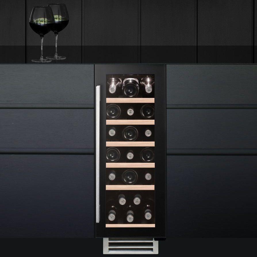 Caple Wi3124 30cm Undercounter Wine Cooler Black
