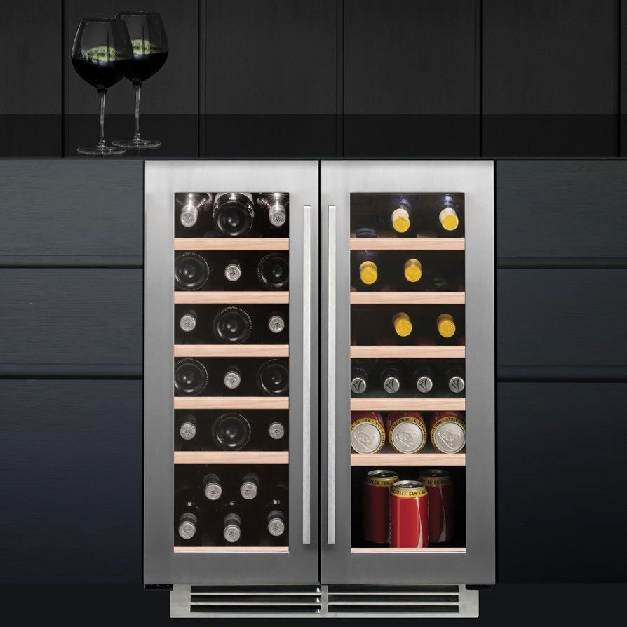 Caple WI6232 60cm Undercounter Dual Zone Wine Cooler - STAINLESS STEEL & Caple WI6232 60cm Undercounter Dual Zone Wine Cooler - Appliance City