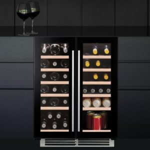 Caple WI6233 60cm Undercounter Dual Zone Wine Cooler - BLACK