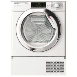 Hoover HBTDWH7A1TCE-80 7kg Integrated Heat Pump Condenser Tumble Dryer – WHITE