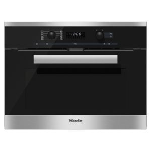 Miele H6200BPCLST PureLine Compact Built In Pyrolytic Oven - STAINLESS STEEL