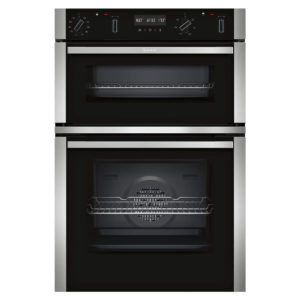Neff U2ACM7HN0B N50 Pyrolytic CircoTherm Built In Double Oven - STAINLESS STEEL