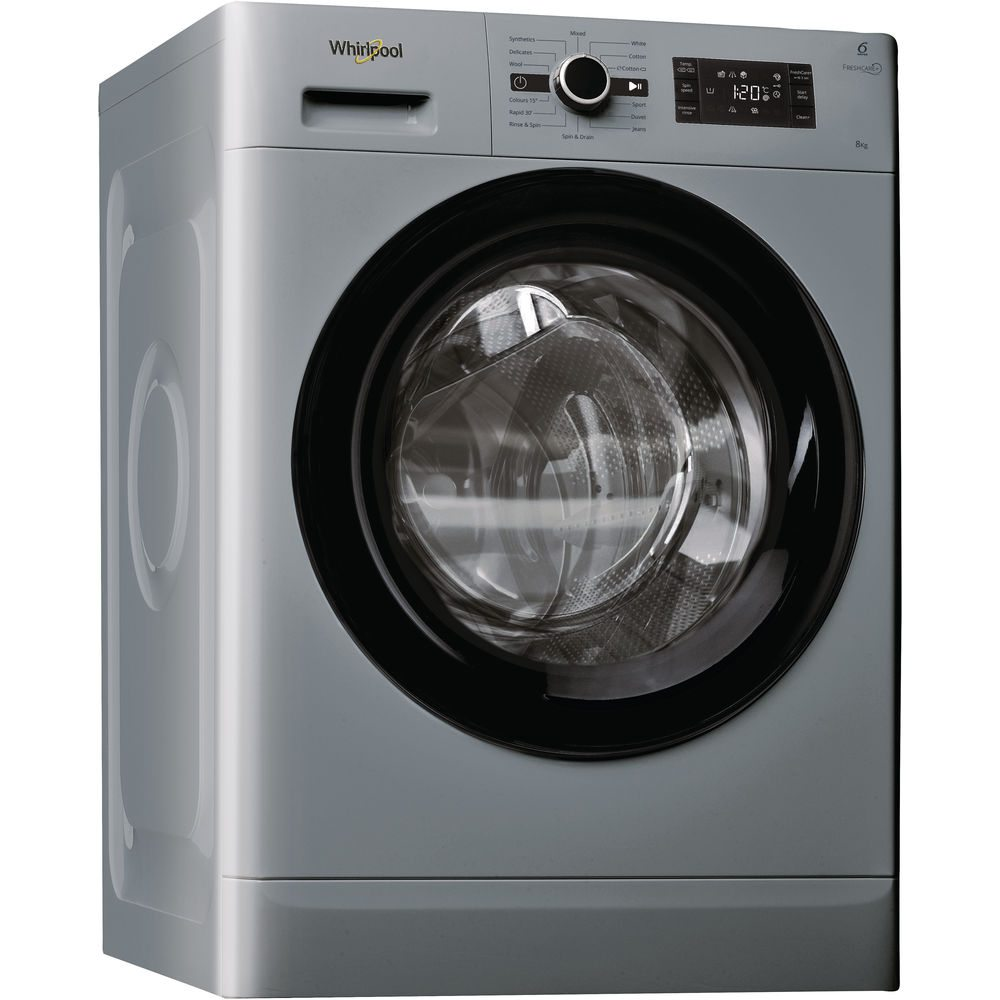 e5a83b2ac2f64 Whirlpool FWG81496S 8kg Fresh Care Steam Washing Machine 1400rpm - SILVER -  Appliance City