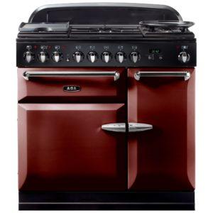 AGA Masterchef MENMSFCBY 90cm Dual Fuel Range Cooker – CRANBERRY