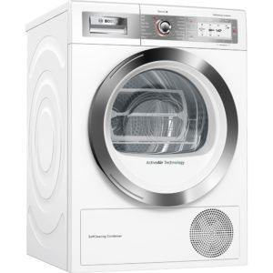 Bosch WTYH6791GB 9kg Serie 8 Heat Pump Condenser Tumble Dryer - WHITE