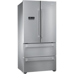 Smeg FQ55FXE1 French Style Front Clad Fridge Freezer - STAINLESS STEEL