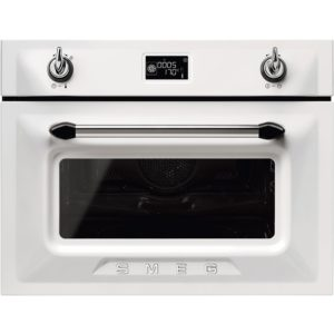 Smeg SF4920MCB1 Victoria Compact Combi Microwave For Tall Housing – WHITE
