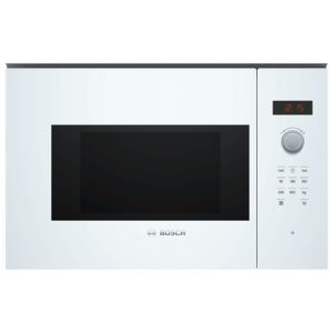 Bosch BFL523MW0B 60cm Built In Compact Microwave For Wall Unit – WHITE