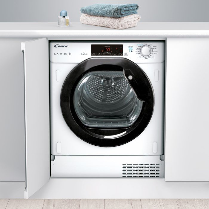 Candy Ctdbh7a1tbe 7kg Integrated Heat Pump Condenser Tumble Dryer
