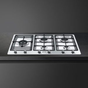 Smeg PS906-5 90cm Classic Ultra Low Profile 5 Burner Gas Hob – STAINLESS STEEL
