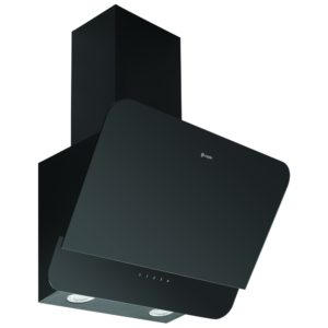 Caple OM600 60cm Angled Chimney Hood - BLACK