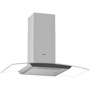 Neff D94AFM1N0B 90cm Curved Glass Chimney Hood – STAINLESS STEEL