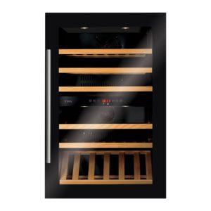 CDA FWV902BL 88cm Integrated In Column Dual Zone Wine Cooler - BLACK