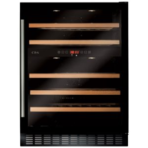 CDA FWC604BL 60cm Freestanding Under Counter Wine Cooler - BLACK