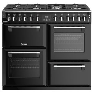 Stoves RICHMOND DX S1000DFBK 4907 Richmond Deluxe 100cm Dual Fuel Cooker – BLACK