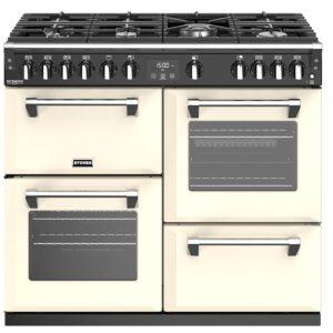 Stoves RICHMOND DX S1000DFGTGCC 4910 Richmond Deluxe 100cm Gas On Glass Dual Fuel Cooker – CREAM