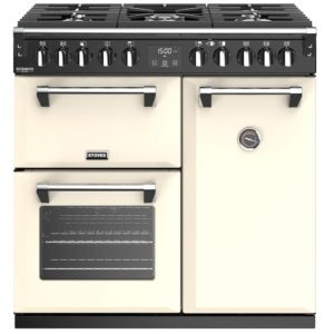 Stoves RICHMOND DX S900DFCC 4898 Richmond Deluxe 90cm Dual Fuel Cooker – CREAM