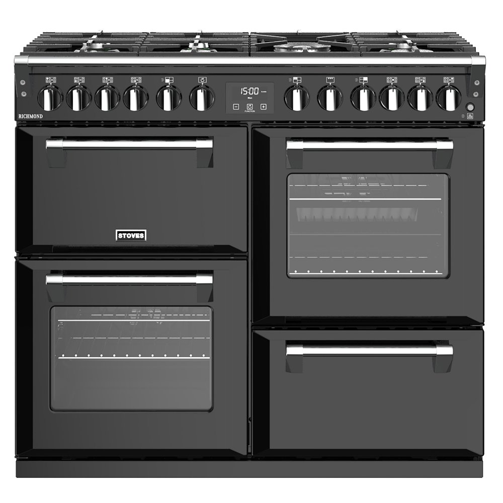 stoves richmond s1000dfbk 4451 richmond 1000mm dual fuel. Black Bedroom Furniture Sets. Home Design Ideas