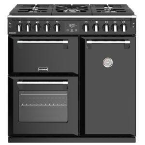 Stoves RICHMOND S900DFBK 4435 Richmond 90cm Dual Fuel Cooker – BLACK