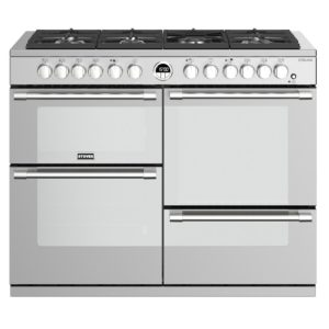 Stoves STERLING S1100DFSS 4502 Sterling 110cm Dual Fuel Range Cooker – STAINLESS STEEL