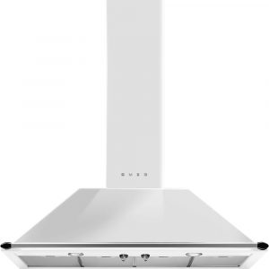 Smeg KT110BE 110cm Victoria Chimney Hood With Rail – WHITE